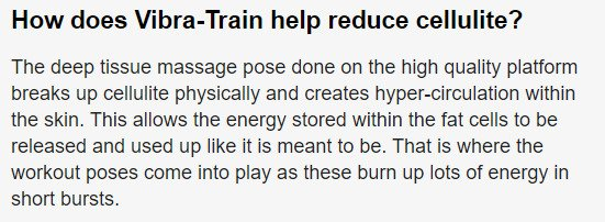 a screenshot from a website promote vibration platforms for exercise