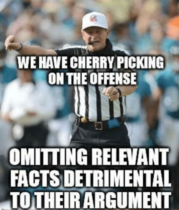 Cherry picking fallacy referee